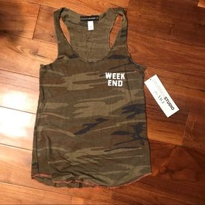 Army print tank top/ muscle tee